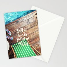 salt in the air sand in my hair Stationery Cards