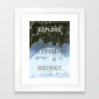 Explore Create Repeat Framed Art Print