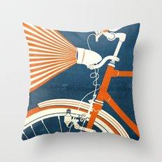 Bicycle Light Throw Pillow