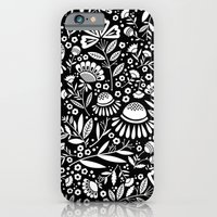 iPhone & iPod Case featuring In the High-Contrast Geo Garden by a. peterson