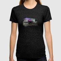 Spider House Womens Fitted Tee Tri-Black SMALL