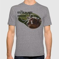 Steaks Are High Mens Fitted Tee Athletic Grey SMALL