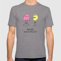 ROLES by ISHISHA PROJECT Mens Fitted Tee Tri-Grey SMALL