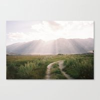 The Sierras off 395 is North-Eastern, Ca  Canvas Print