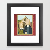 American Gothic By Grant… Framed Art Print