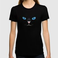 Little black cat Womens Fitted Tee Black SMALL