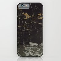 iPhone Cases featuring Real Black Marble by Calacatta
