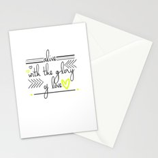 Alive with the Glory of Love Stationery Cards