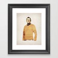 Polygon Heroes - Kirk Framed Art Print