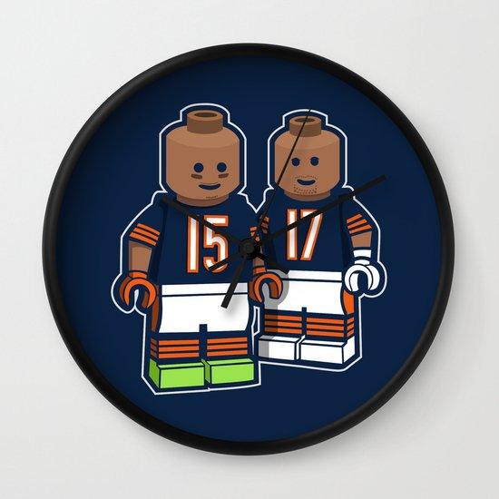 Bears Bricked: Brandon Marshall & Alshon Jeffery Wall Clock
