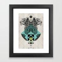 Blue Leopard Framed Art Print