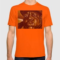 Mo Money Mo Problems Mens Fitted Tee Orange SMALL