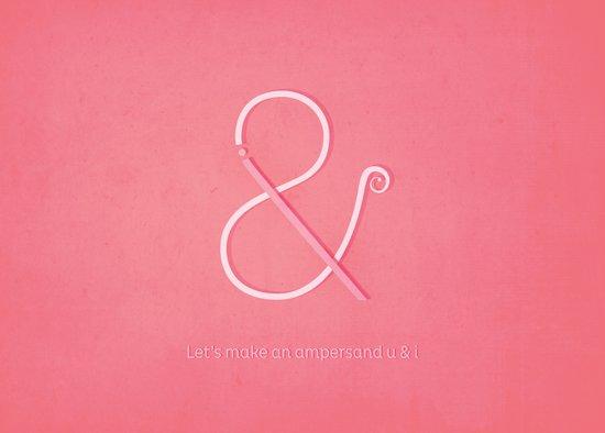 Let's make an ampersand U&I Art Print