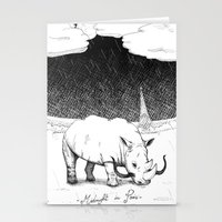 Rhino During Midnight I… Stationery Cards