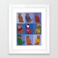The Nine Lives of Felis Catus Framed Art Print