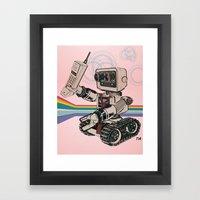 1980s Corporate Robot Framed Art Print