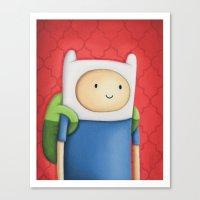 Finn Adventure Time Canvas Print