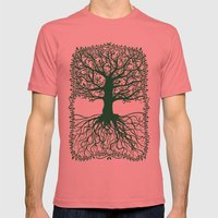 Oak tree Mens Fitted Tee Pomegranate SMALL