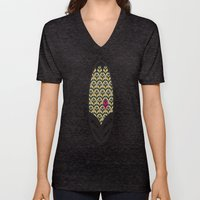 Rubine Feather Unisex V-Neck