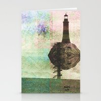 the only place to be high Stationery Cards