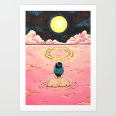 O for Ocean | Alphabet Zine Art Print