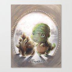 Tinysaurs Canvas Print
