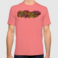 Emote Mens Fitted Tee Pomegranate SMALL