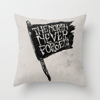The North Never Forgets Throw Pillow