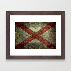 Alabama state flag Framed Art Print