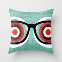 bullseyes Throw Pillow