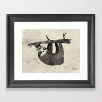 Mr. Sloth Framed Art Print
