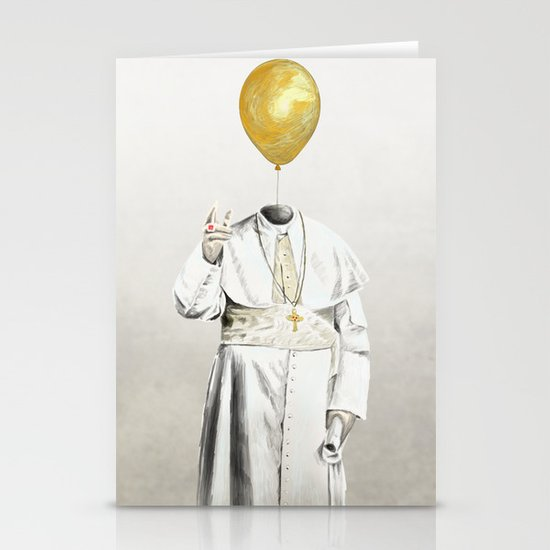 The Pope - #4 Stationery Card
