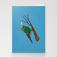 Annoyed IL Birds: The Sparrow Stationery Cards
