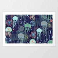 Sparkling Jellies Art Print
