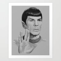 Spock Portrait Star Trek Art Print