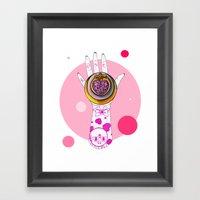 Chibi Moon Framed Art Print