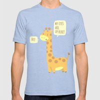 Giraffe Problems! Mens Fitted Tee Tri-Blue SMALL