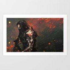 Blood In The Breeze Art Print