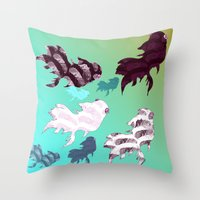 Dancing Fishes Throw Pillow