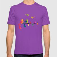 Fly High, My Babies - Merry Christmas Mens Fitted Tee Ultraviolet SMALL