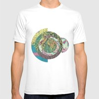 Topography Mens Fitted Tee White SMALL