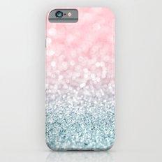 Aqua and Pink Glitter Gradient iPhone 6 Slim Case