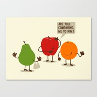 Like Apples and Oranges Canvas Print