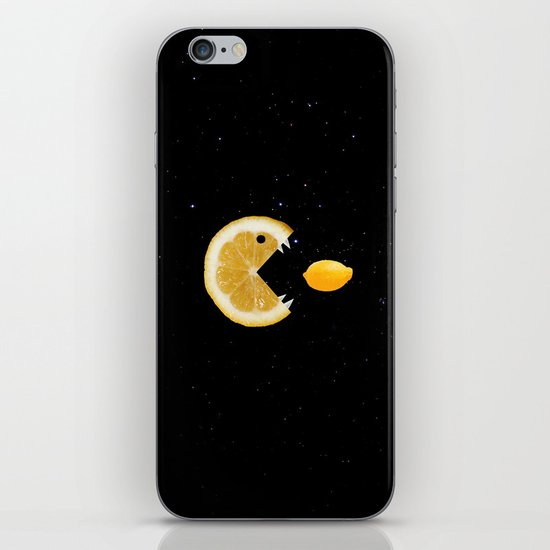 Lemon eats lemon iPhone & iPod Skin