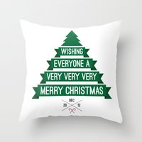 Merry Wishes Throw Pillow