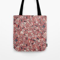 A1B2C3 coral red Tote Bag