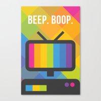 Beep. Boop. Canvas Print