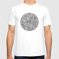 Circular Mens Fitted Tee White SMALL