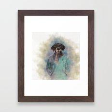 Going For a Walk Framed Art Print
