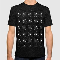 Pin Points Grey Mens Fitted Tee Tri-Black SMALL